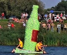 Picture of the Day - The Milk Carton Boat Race, Latvia Stag And Hen, Unusual Things, Summer Sunset, More Fun, Balloons, Festivals, Day, Creative, Wicked