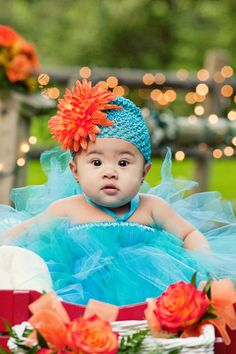 Teal and Orange Wedding Ideas this is not my tutu but I can make one for you like this dreamscometrueshop.com