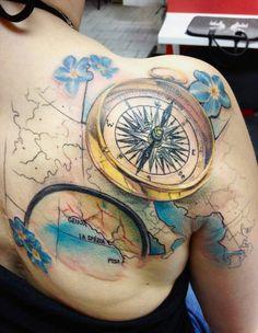Abstract Tattoo by Marie Kraus Dope Tattoos, Body Art Tattoos, Tattoo Drawings, Tatoos, Incredible Tattoos, Beautiful Tattoos, Beautiful Body, Clock Face Tattoo, Sarah Tattoo