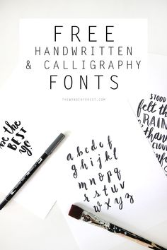 Free Handwritten / Calligraphy Fonts | Wonder Forest: Design Your Life.