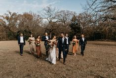 Wedding party with the bride and groom | Image by Marissa Merrill Photography Bride And Groom Images, Wedding Blog, Wedding Styles, Bohemian Wedding Inspiration, Boho Wedding Decorations, Fall Wedding Colors, Floral Crown, Boho Wedding Dress, Wedding Planning