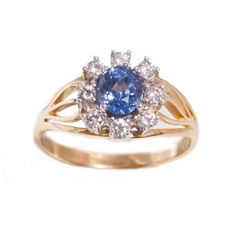 Sapphire and Diamond ring in 18ct