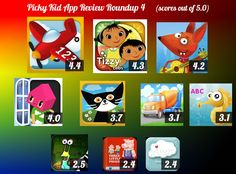 Picky Kid App Review Roundup 4 -- Here's what we think of the apps we most recently added to the iPad