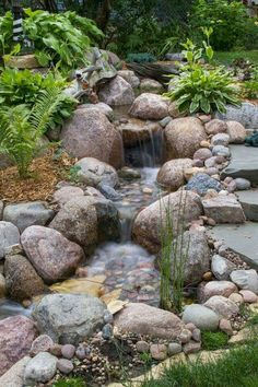 A water garden and pond are absolutely wonderful additions to any backyard landscaping. However, when you first set out to create your water garden, you will quickly realize that it is going to take a lot of work to create… Continue Reading → Backyard Water Feature, Ponds Backyard, Garden Ponds, Pond Landscaping, Landscaping With Rocks, Pond Design, Landscape Design, Garden Waterfall, Waterfall Design