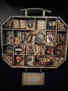 Products Jewelry Displays Platforms Risers Stands Props with 4 Steps Retail Fixtures - Custom Jewelry Ideas Retail Fixtures, Shadow Box Art, Found Object Art, Coffee Staining, Creative Walls, Assemblage Art, Vintage Crafts, Altered Art, Altered Tins
