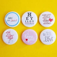 """Fun Wedding Badges Pack of 6 - ( 1.75"""" Badge / Pinback Button ) (Weddings), $7.00"""