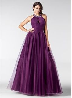 Special Occasion Dresses - $173.99 - A-Line/Princess Halter Floor-Length Tulle Quinceanera Dress With Ruffle Beading  http://www.dressfirst.com/A-Line-Princess-Halter-Floor-Length-Tulle-Quinceanera-Dress-With-Ruffle-Beading-021020811-g20811