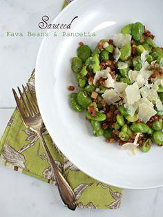 Sauteed Fava Beans & Pancetta | Authentic Suburban Gourmet