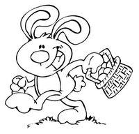 happy hopping bunny