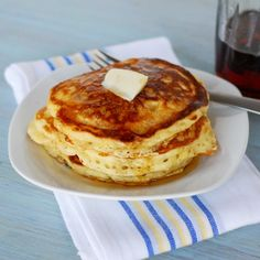 Lemon pancakes! I'm doing mine with honey and butter YUMMM!!!