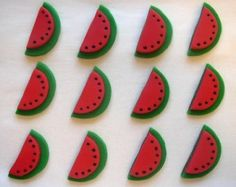 Fondant Cupcake Toppers - Watermelons