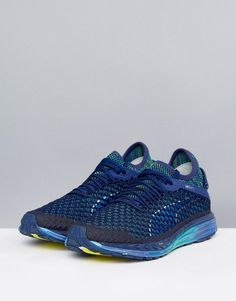 2873454a34ca Puma Running Speed Ignite Netfit Sneakers In Blue 18994201 - Blue