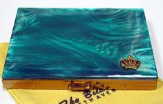 Vintage Cigarette Case Styled by The Bucklers Fifth Avenue, Lucite Top with Crown Emblem.