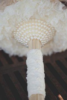 Vintage-Hand-Designed fabric wedding bouquet