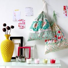 Fun tutorial on how to make these useful laundry bags.