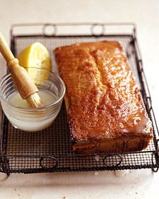 Glazed Lemon Pound Cake - from Martha Stewart Food: This cake doesn't rise very much, so don't be surprised if it's shorter than you might expect.
