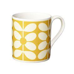 Sixties Stem Mug Yellow