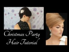 Pinterest Inspired Retro Christmas/Holiday Party Hair Tutorial