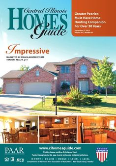 """Fall"" in love with your next home! The September 27th issue of the Central Illinois Homes Guide is online! The Central Illinois Homes Guide is Greater Peoria's must have home hunting companion! It is distributed in 5 counties and has over 500 distribution spots with a 94% pick up rate!!  Not only is the Homes Guide available in print but it also is online and interactive. Just click on any home to view more information and photos! #homesforsale #Peoria #IL #realestate #PeoriaHomes"