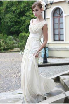 Paillettenbesetztes kleine Größe asymmetrischer Ausschnitt birneförmiges Göttin Brautkleid bodenlanges Brautkleid