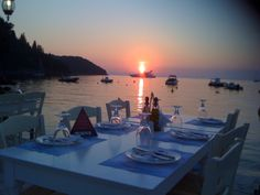 Sivota Stone Fence, Greece, Villa, Sunset, Places, Outdoor, Greece Country, Sunsets, Outdoors