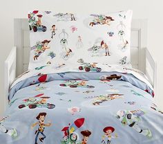 Disney and Pixar Toy Story Organic Toddler Duvet Cover, Toddler, Multi