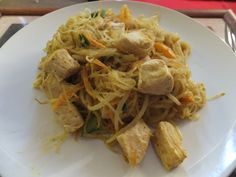 Low-fodmap chicken satay; the flavor was awesome. I think the texture would be better with tofu.