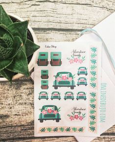 Types Of Journals, Creative Outlet, Printable Stickers, Road Trip, Paper Crafts, Bullet Journal, Adventure, Spring, Floral