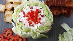 How do you better a BLT? Turn it into a dip. With five easy ingredients - bacon, mayo, sour cream, tomatoes and McCormick® French Onion Dip. Dip Recipes, Appetizer Recipes, Appetizers, Yummy Recipes, Charleston Cheese Dips, Hot Corn, French Onion Dip, Tomato Jam, Deviled Eggs Recipe