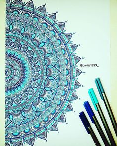 ▪| βΙυε  |▪ . #art #artist #artists #artwork #draw #drawing #drawings #mandala #mandalas #mandalaart #zen #zenart #zentangle #zentangleart #selftoughtartist #zendoodle #zendoodleart #creativity #creativeness #freehand #blue #color #staedler #staedtlerpens . #art_pkh