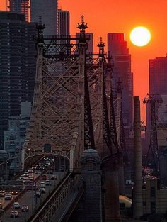 Sunset over Queens, NY.                 #US attractions #discount vacations