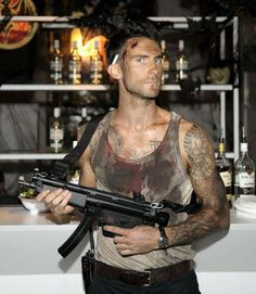 Adam Levine as John McClane from Die Hard