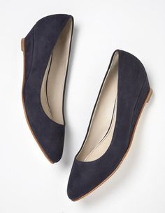 Mid-Heel Wedge Wedges at Boden Pretty Shoes, Cute Shoes, Boots For Sale, Navy Women, Ballet Flats, Leather Boots, Shoe Boots, Footwear, Wedges