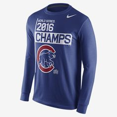 NIKE 2016 WORLD SERIES CHAMPS (MLB CUBS) MEN'S LONG SLEEVE T-SHIRT #Nike #ChicagoCubs