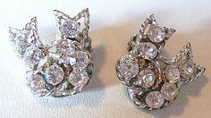 Vintage Deco Earrings Sparkly Rhinestones by BrightgemsTreasures, $8.50