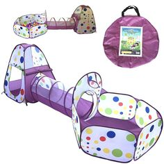 WOW Playz 3-Piece Kid... is here! See it at http://1morew.com/products/playz-3-piece-kids-play-tent-crawl-tunnel-and-ball-pit-with-basketball-hoop-playhouse-for-boys-girls-babies-and-toddlers-purple?utm_campaign=social_autopilot&utm_source=pin&utm_medium=pin