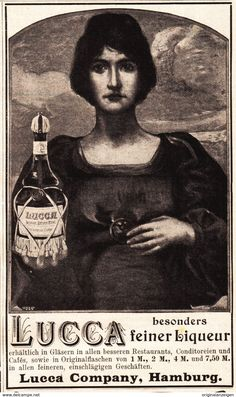 Werbung - Original-Werbung/ Anzeige 1901 - LUCCA LIQUEUR - HAMBURG - ca. 90 x 150 mm