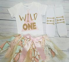 baby girl clothes wild one tribal first birthday girl outfit