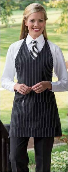 Women Ties, Suits For Women, Clothes For Women, Hotel Uniform, Uncommon Threads, Restaurant Uniforms, Staff Uniforms, Cute Aprons, Chef Apron