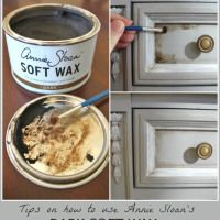 Chalk Paint® Dresser Makeover (Part 2 Using Wax) Best instructions I've seen for waxing chalk painted items.