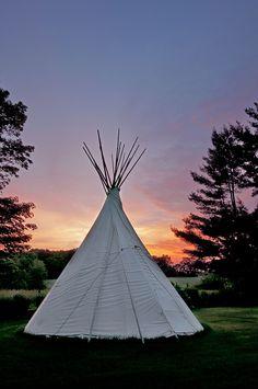 Paula's Teepee - May sunset by platypusstudios, via Flickr