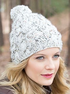 Free Knitting Pattern for Chunky Cable and Rib Hat