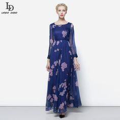 Fashion Women Party Dress Floor Length Puff Sleeve Floral Print Vintage Long Dress Like it? www.storeglum.com... #shop #beauty #Woman's fashion #Products
