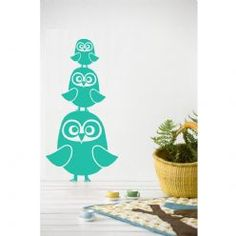 ferm LIVING Owl Wall Stickers : Gifts and Accessories from Scandinavia