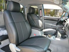 Clazzio Leather Front & Rear Custom Fit Seat Covers for Toyota Tacoma Double Cab