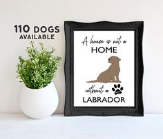 Labrador Poster Mothers Day Gift from Dog Labrador Mom Dog Lover Gifts Dog Wall Art Quote