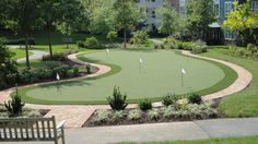 Beautiful putting green installed by Business Flooring of Laurel for Ashby Ponds Retirement Community in VA. Outdoor Putting Green, Golf Putting Green, Council Bluffs, Senior Living Communities, Chesapeake Bay, Condos, Timeline Photos, Square Feet, Pitch