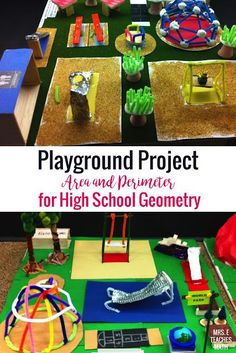 Playground Project Need an area and perimeter project? This is a fun project based learning activity for middle school or high school geometry! The post Playground Project appeared first on School Ideas. Classroom Art Projects, Math Projects, Math Classroom, School Projects, Classroom Ideas, Stem High School, High School Geometry, High School Chemistry, Geometry Activities