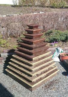 KREATIVE HENDER : Jordbærpyramide Flowers Garden, Stepping Stones, Texture, Wood, Outdoor Decor, Pictures, Crafts, Instagram, Home Decor
