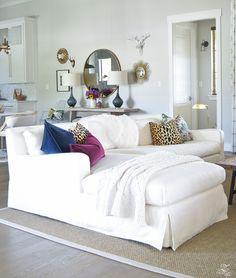white transitional fall living room chiang mia dragon fabric pillow leaopard pillows kravet riad curtains